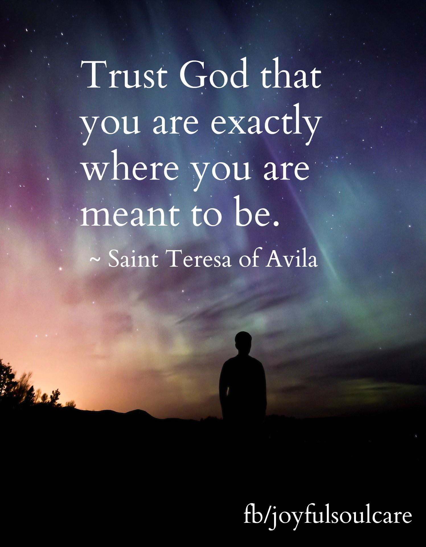 Trust God quote, Saint Teresa of Avila, mystic
